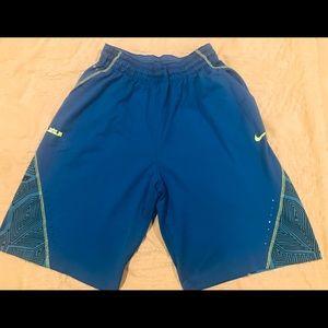 Nike Lebron basketball shorts, Adult Small